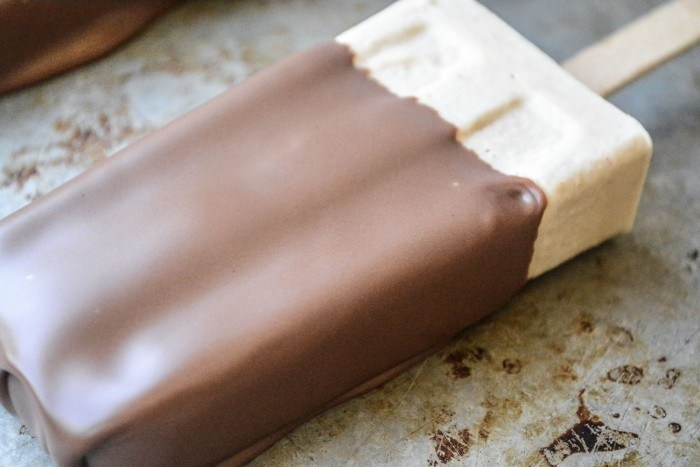 Chocolate Dipped Peanut Butter Ice Cream Bars Recipe | HeyFood — heyfoodapp.com
