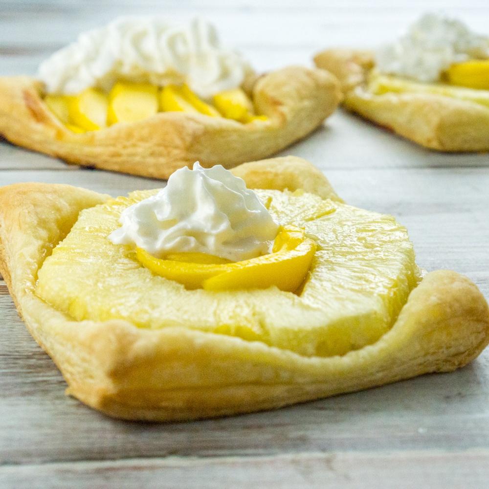 Pineapple and Mango Puff Pastry Squares Recipe   HeyFood — heyfoodapp.com