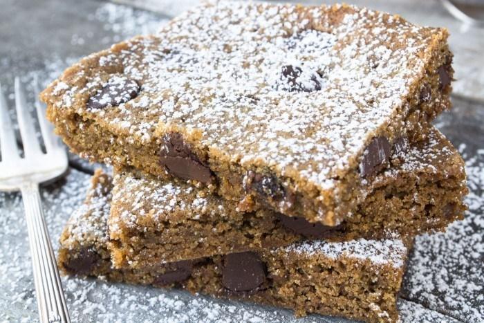 Whole Wheat Gingerbread Blondies Recipe | HeyFood — heyfoodapp.com