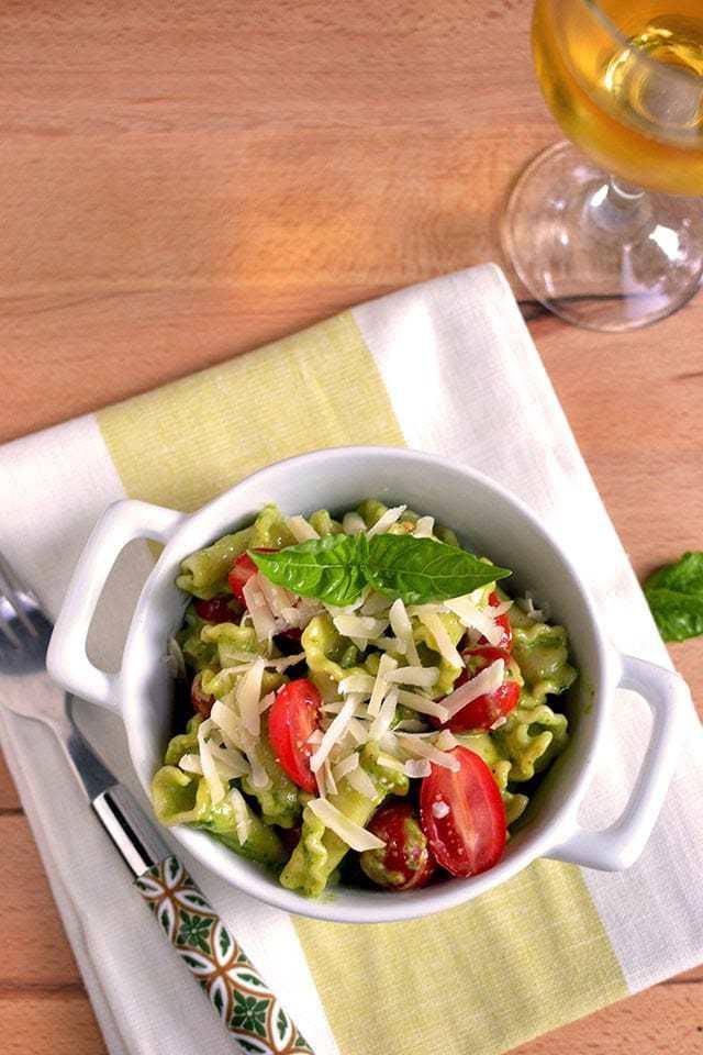 Creamy Pesto Pasta Recipe | HeyFood — heyfoodapp.com