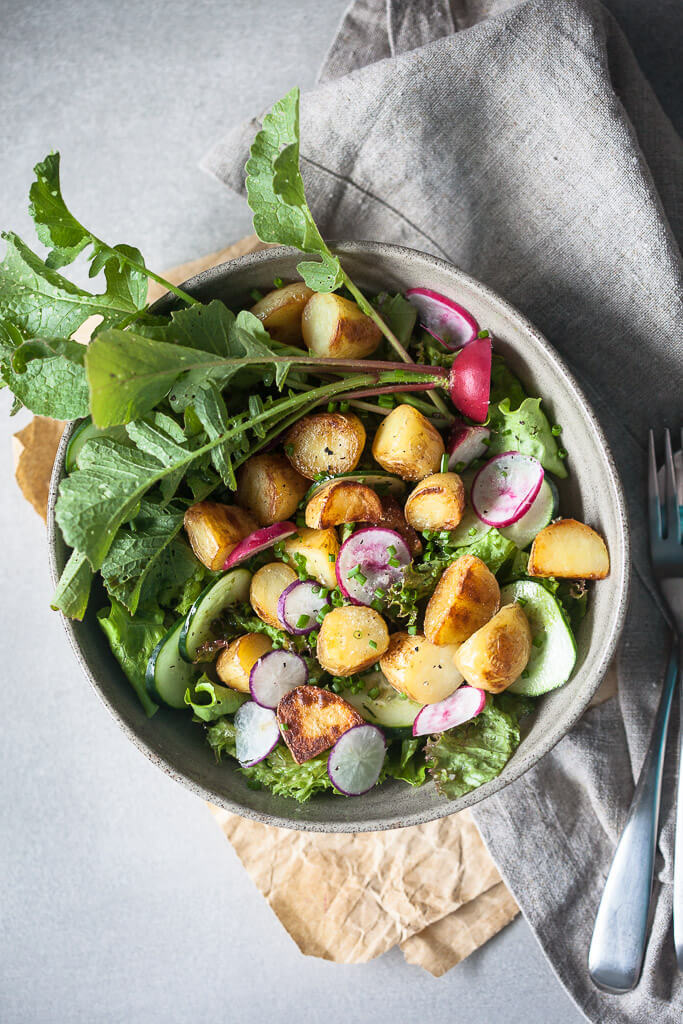 Spring Potato Salad with Balsamic Vinaigrette  Recipe   HeyFood — heyfoodapp.com