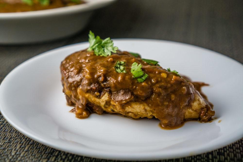 Chicken with Mole Sauce Recipe | HeyFood — heyfoodapp.com