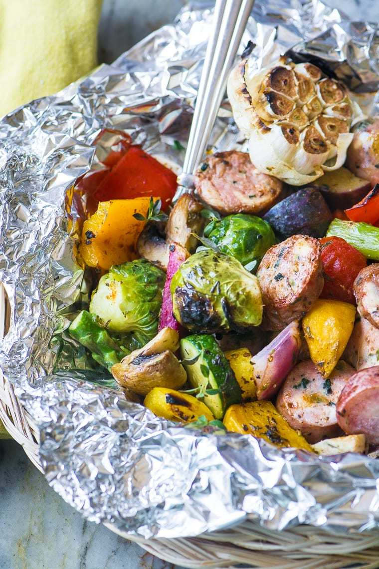 Sausage and Veggie Grill Packets Recipe | HeyFood — heyfoodapp.com