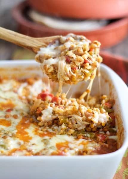 Southwestern Lentil and Brown Rice Bake Recipe | HeyFood — heyfoodapp.com