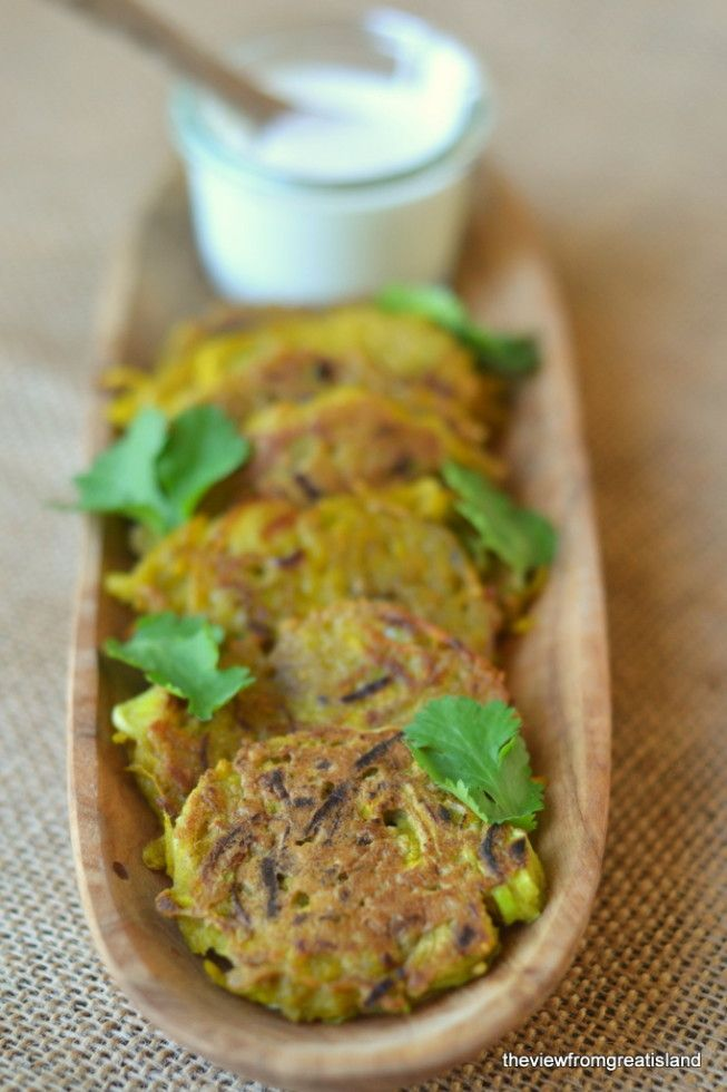 Golden Beet and Leek Fritters with Yogurt and Lemon Recipe   HeyFood — heyfoodapp.com