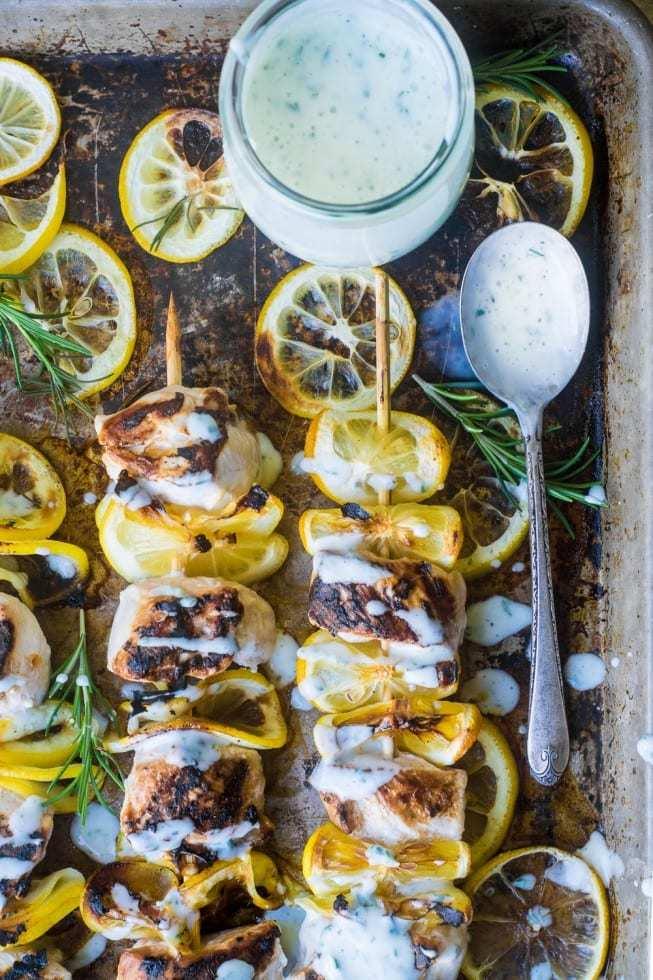 Lemony Buttermilk Chicken Skewers Recipe | HeyFood — heyfoodapp.com