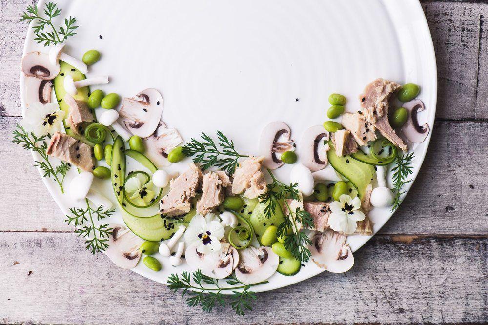 Pretty Plated Tuna Salad Recipe | HeyFood — heyfoodapp.com