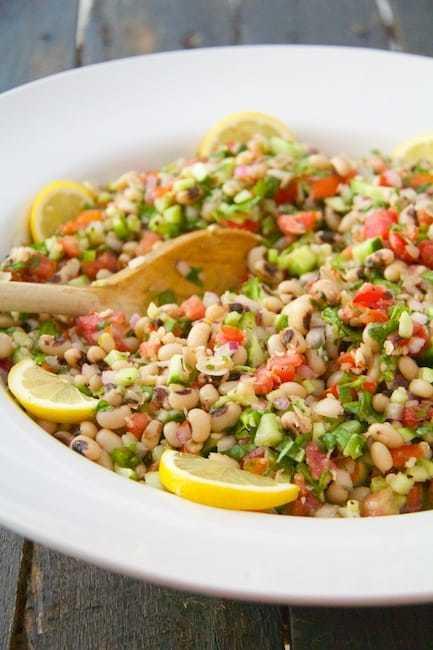 Spicy Black-Eyed Pea Salad Recipe   HeyFood — heyfoodapp.com