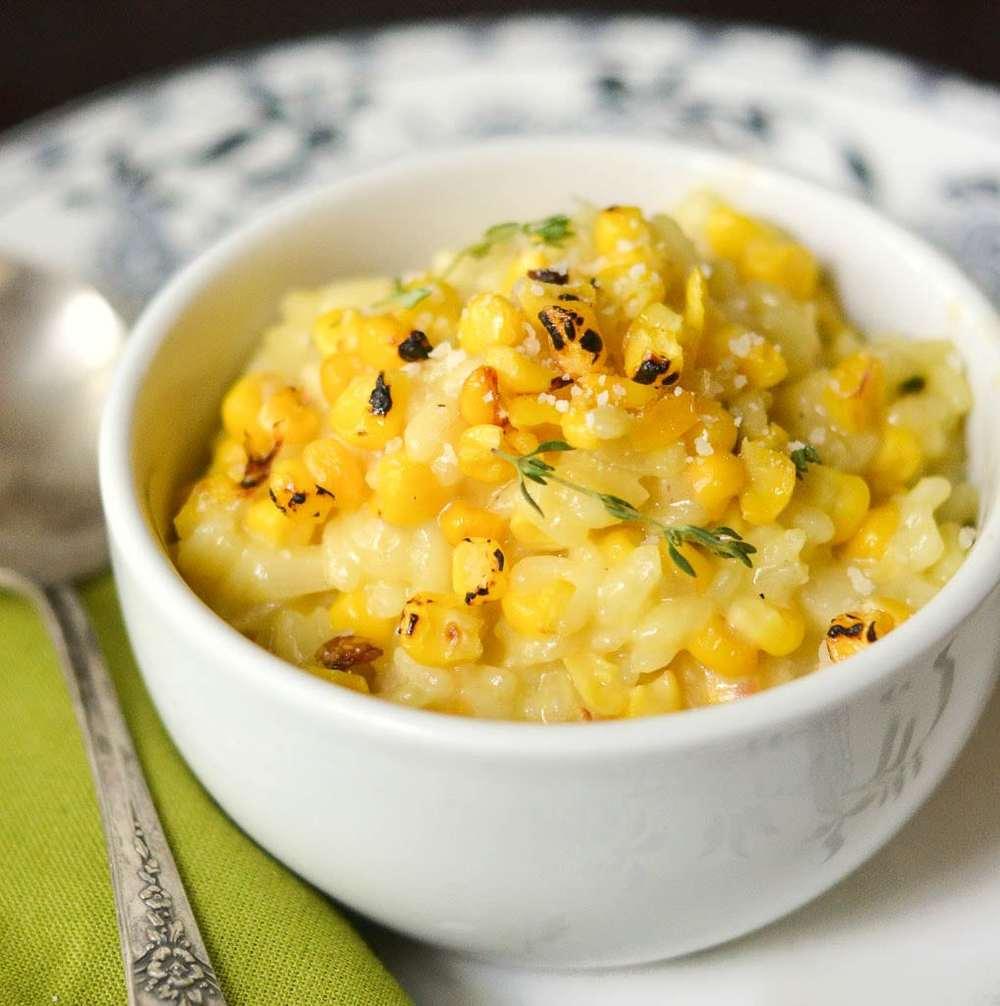Roasted Corn and Saffron Risotto Recipe   HeyFood — heyfoodapp.com