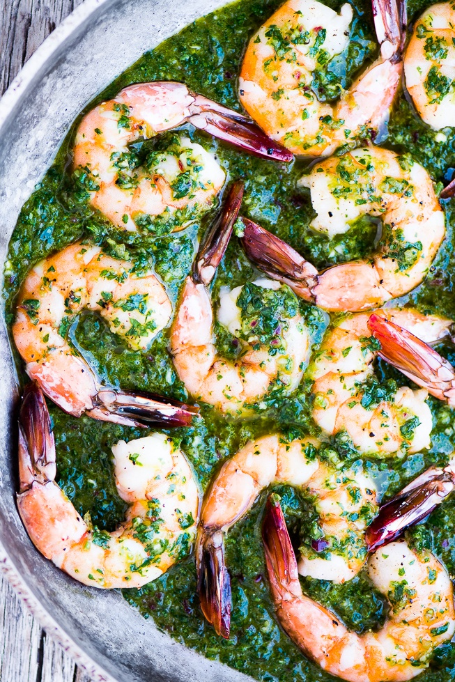 Chimichurri Shrimp Recipe | HeyFood — heyfoodapp.com