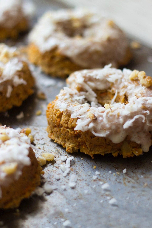 Carrot Cake Donuts + Coconut Glaze Recipe | HeyFood — heyfoodapp.com