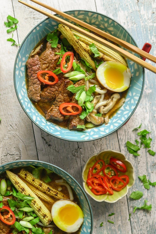 Chilli Beef Ramen Recipe | HeyFood — heyfoodapp.com