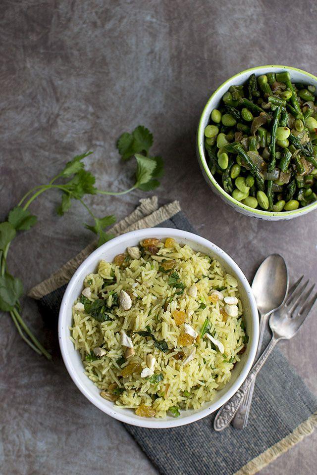 Curried Rice with Raisins and Cashews Recipe | HeyFood — heyfoodapp.com