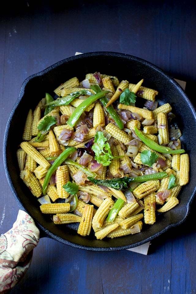 Baby Corn Roast Recipe | HeyFood — heyfoodapp.com