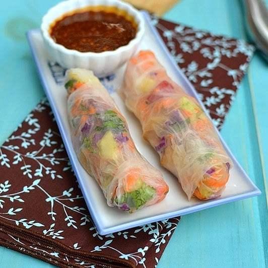 Vegetarian Summer Rolls Recipe | HeyFood — heyfoodapp.com