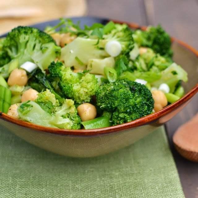 Broccoli Chickpea Salad Recipe | HeyFood — heyfoodapp.com