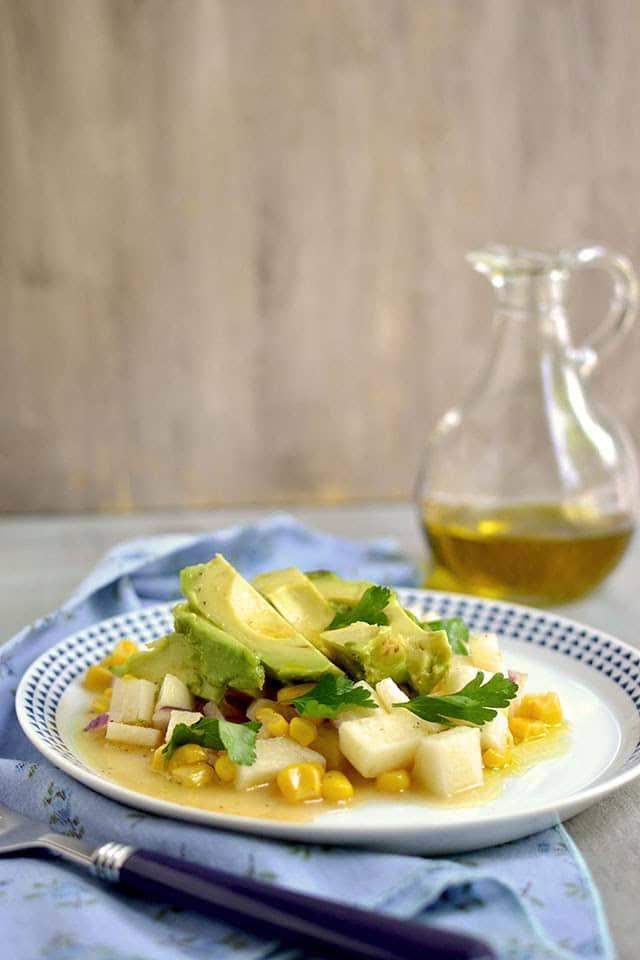 Jicama-Avocado Salad with Citrus Vinaigrette Recipe   HeyFood — heyfoodapp.com