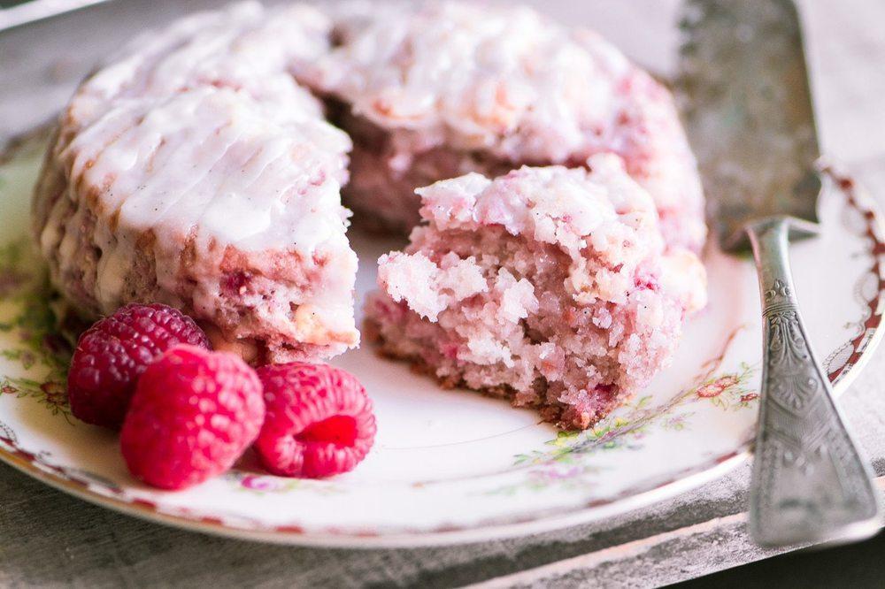 Raspberry White Chocolate Scones Recipe | HeyFood — heyfoodapp.com