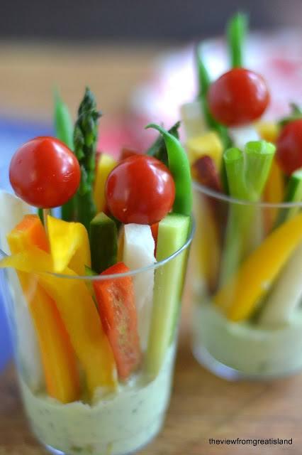 Veggie Dip Cups with Green Goddess Dip Recipe | HeyFood — heyfoodapp.com