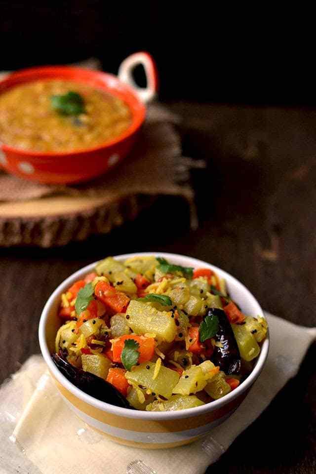 Chayote and Carrot Dry Curry Recipe   HeyFood — heyfoodapp.com