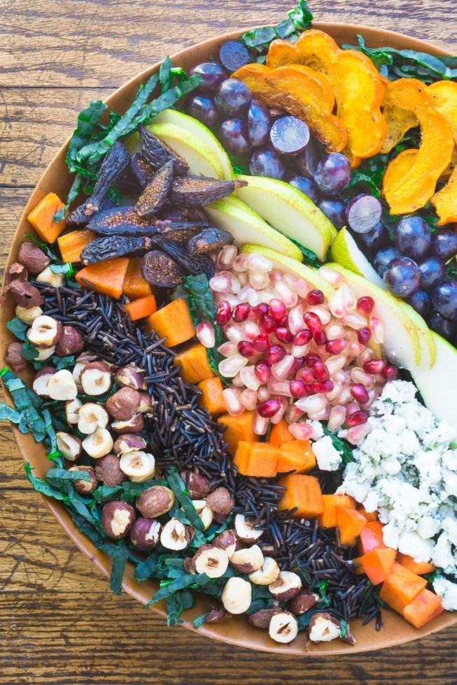 Harvest Salad with Pomegranate Allspice Dressing Recipe | HeyFood — heyfoodapp.com
