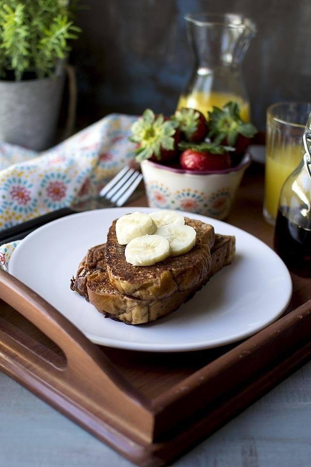 Vegan Chocolate French Toast Recipe   HeyFood — heyfoodapp.com