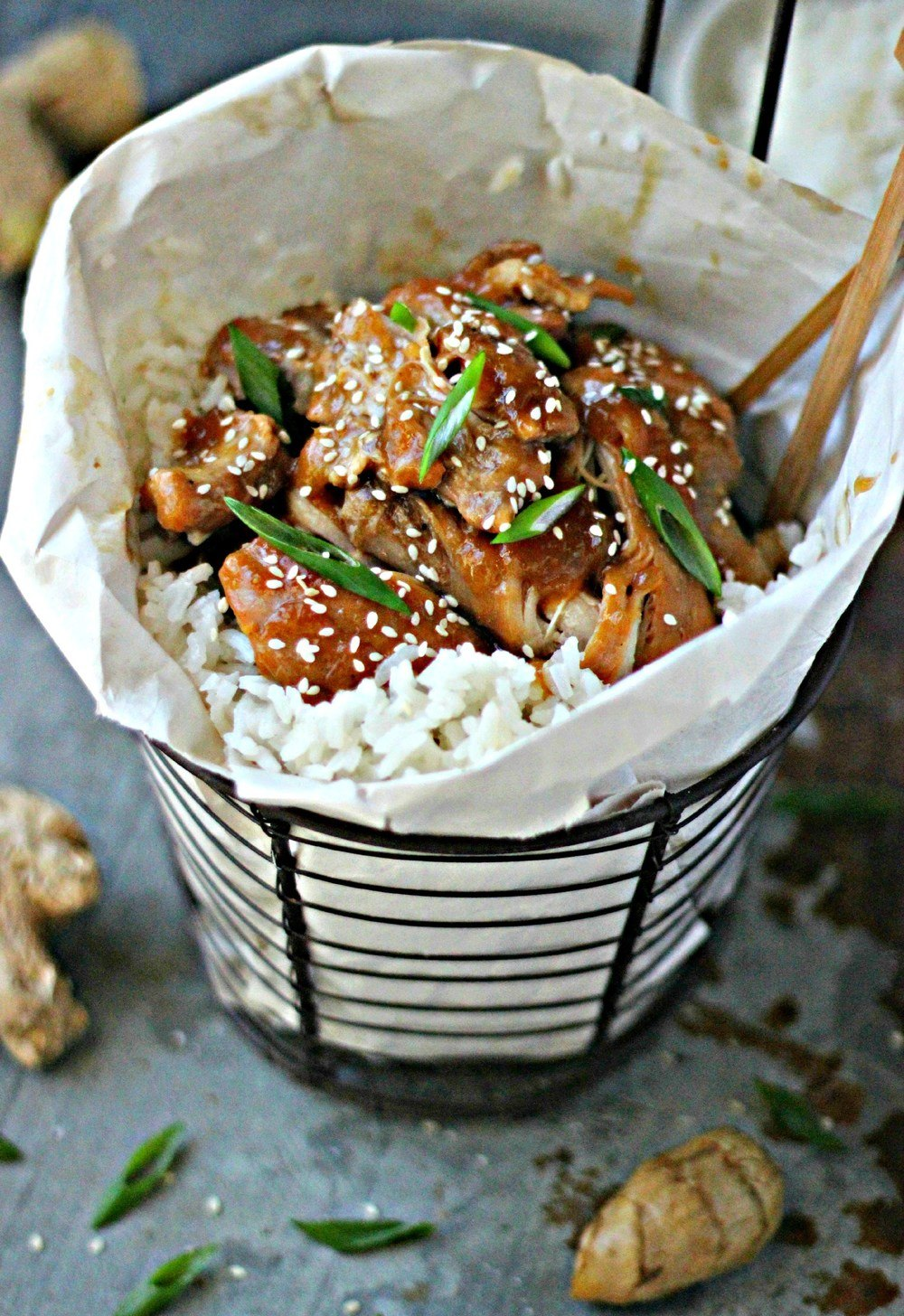 Pineapple Shoyu Chicken with Coconut Jasmine Rice Recipe | HeyFood — heyfoodapp.com