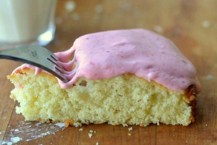 Vanilla Bean Cake with Strawberry Buttercream Recipe | HeyFood — heyfoodapp.com