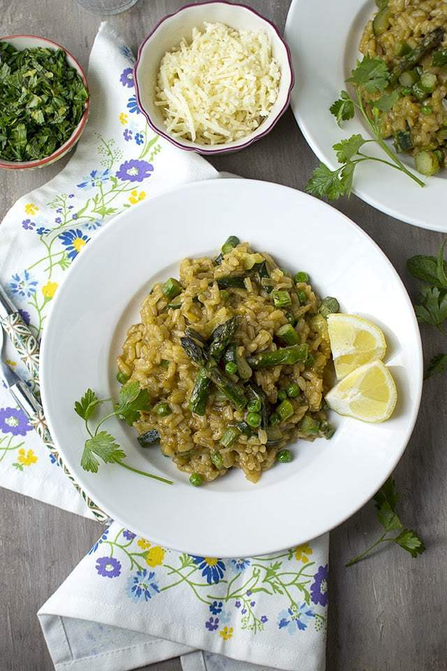 Spring Vegetable Risotto Recipe | HeyFood — heyfoodapp.com