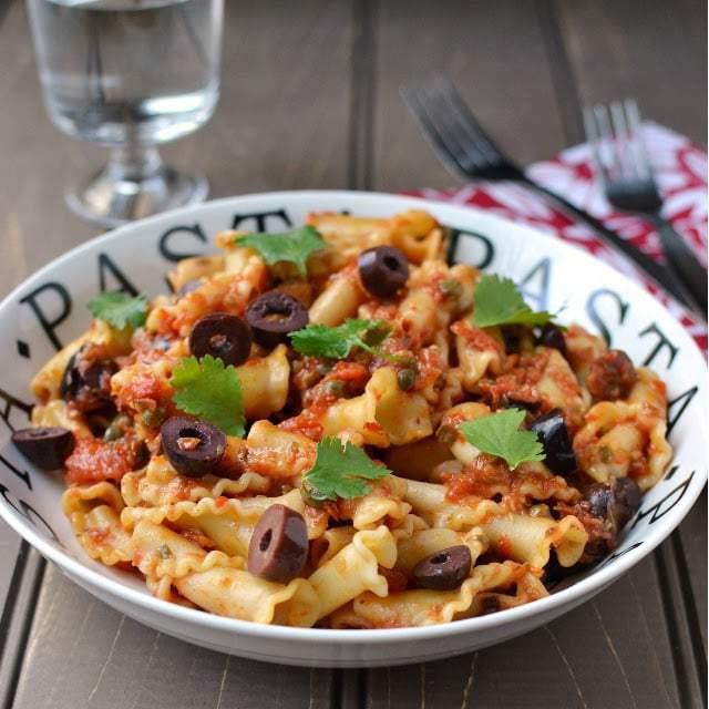Summer Pasta Puttanesca Recipe | HeyFood — heyfoodapp.com