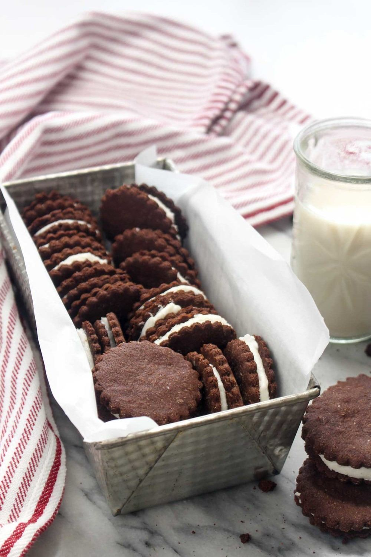 Homemade Peppermint Oreo Cookies Recipe   HeyFood — heyfoodapp.com