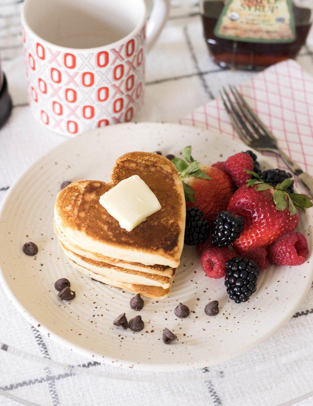 Heart-Shaped Pancakes Recipe | HeyFood — heyfoodapp.com