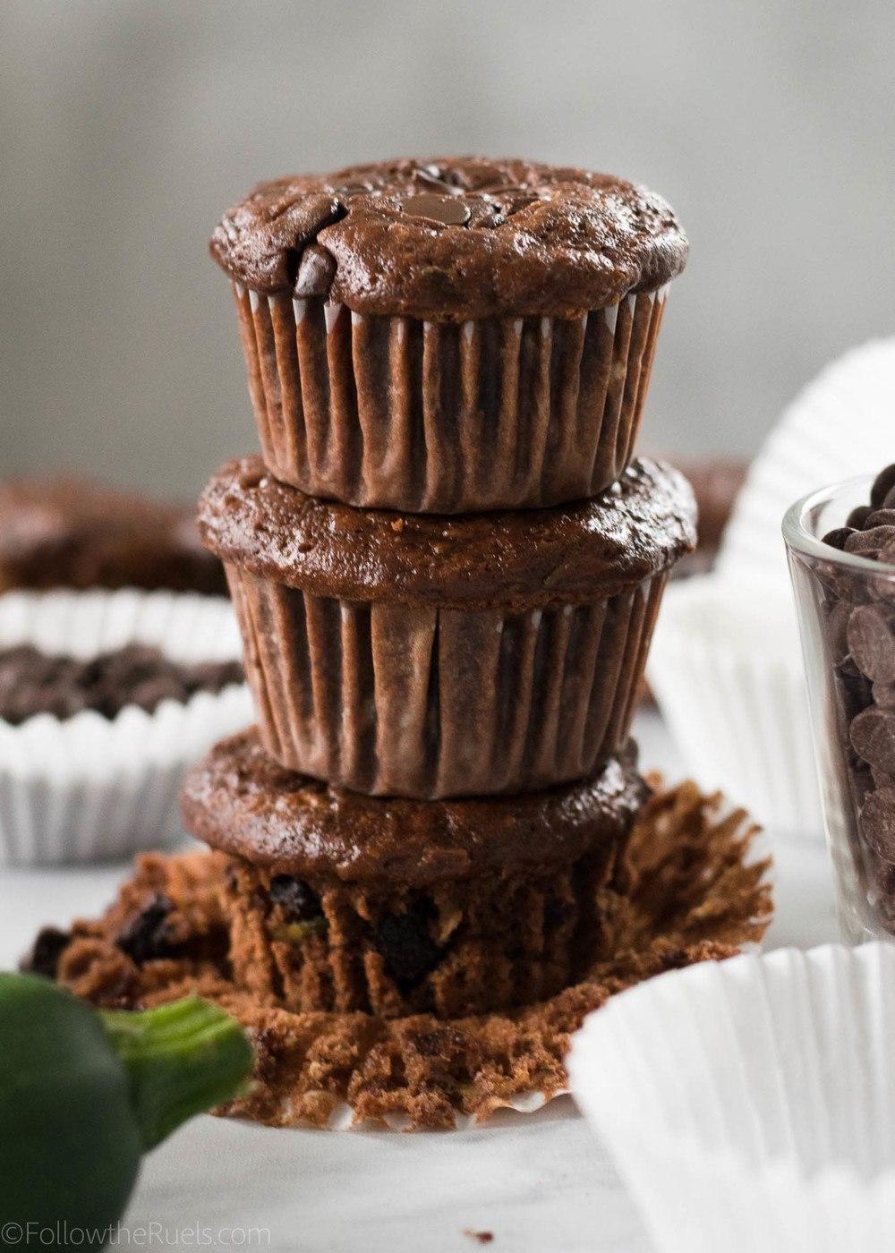 Chocolate Zucchini Muffins Recipe | HeyFood — heyfoodapp.com