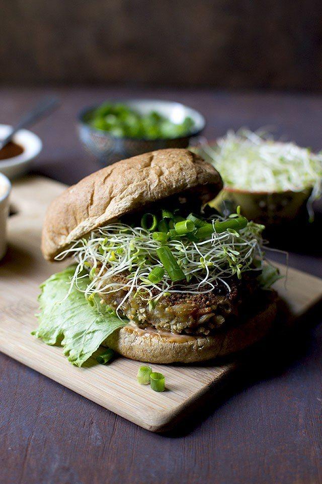 Indo Chinese Vegetarian Burger Recipe Recipe | HeyFood — heyfoodapp.com