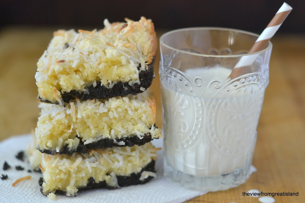 Black Bottom Coconut Squares Recipe | HeyFood — heyfoodapp.com