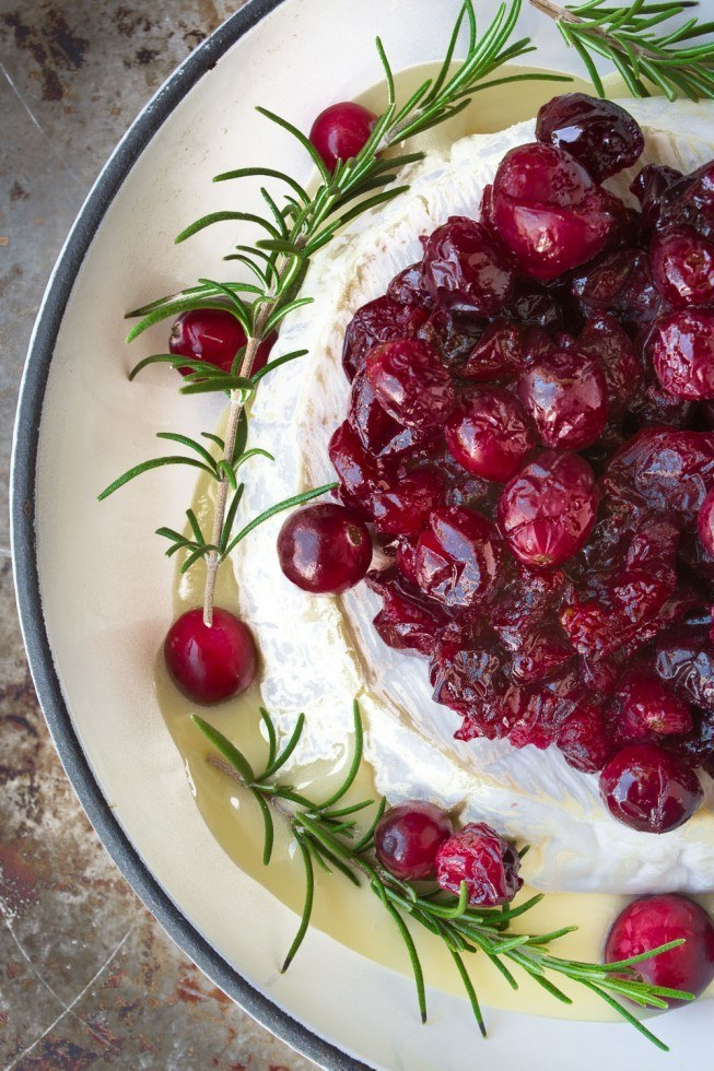 Baked Brie with maple Roasted Cranberries Recipe | HeyFood — heyfoodapp.com