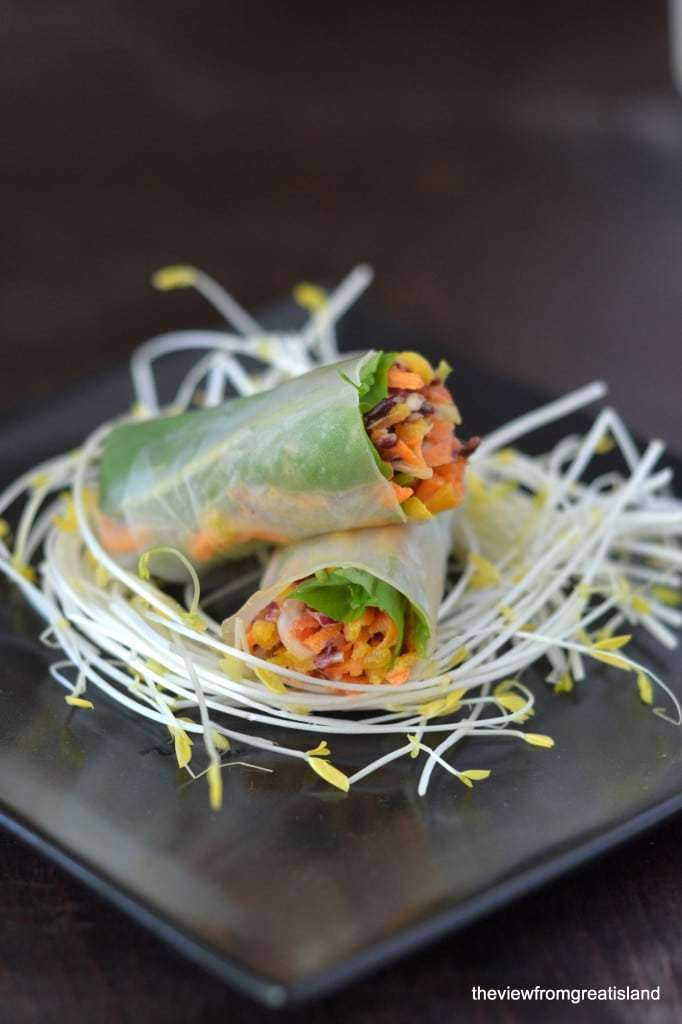 Spicy Asian Slaw Summer Rolls Recipe | HeyFood — heyfoodapp.com