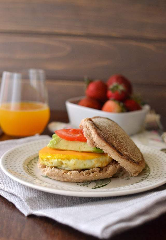 Vegetarian McMuffin Sandwich Recipe   HeyFood — heyfoodapp.com