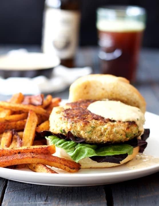 Shrimp Burgers with Jalapeno Remoulade Recipe | HeyFood — heyfoodapp.com