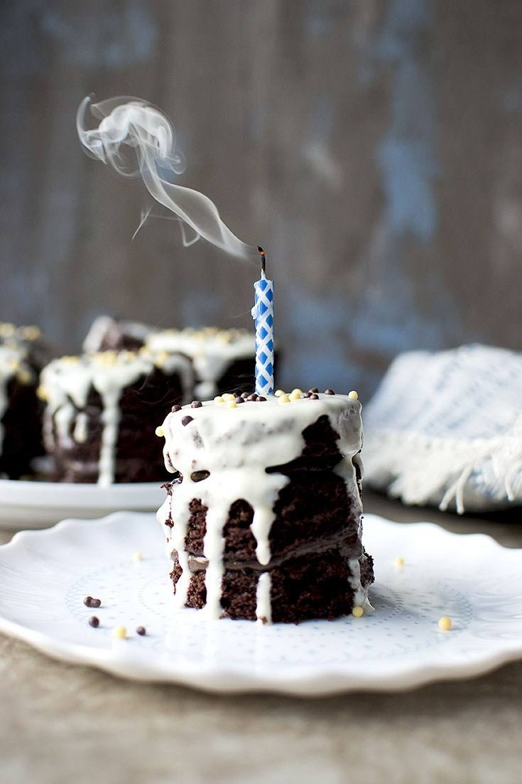 Mini Chocolate Layer Cake Recipe | HeyFood — heyfoodapp.com