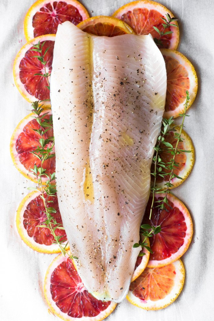 Fish with Blood Orange and Thyme in Parchment Recipe | HeyFood — heyfoodapp.com