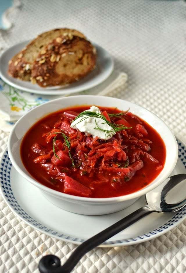 Borscht -- Russian Beet & Vegetable Soup Recipe | HeyFood — heyfoodapp.com