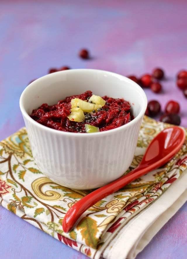 Cranberry Pachadi (Cranberry Chutney) Recipe   HeyFood — heyfoodapp.com
