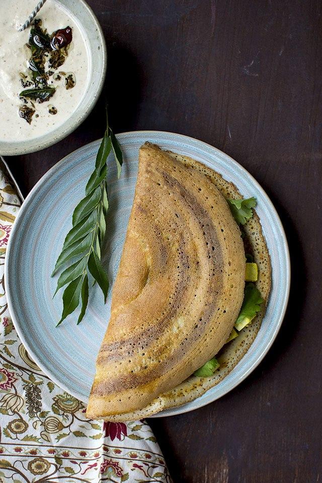Spicy Paneer filled Dosa Recipe | HeyFood — heyfoodapp.com