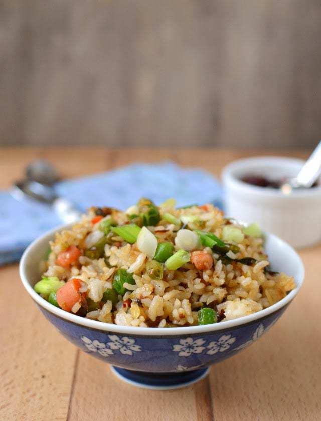 Schezwan Fried Rice with Vegetable Manchurian Recipe | HeyFood — heyfoodapp.com