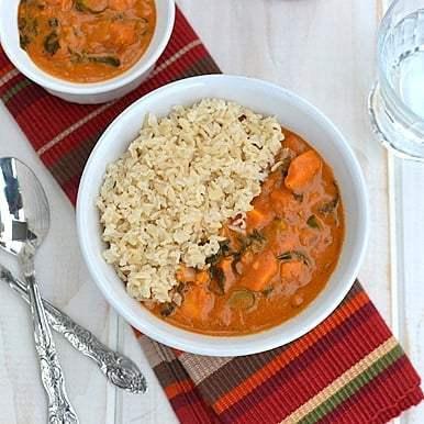 Sweet Potato Curry with Peanut sauce Recipe | HeyFood — heyfoodapp.com