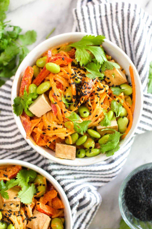Thai Red Curry Soba Noodle Salad Recipe | HeyFood — heyfoodapp.com