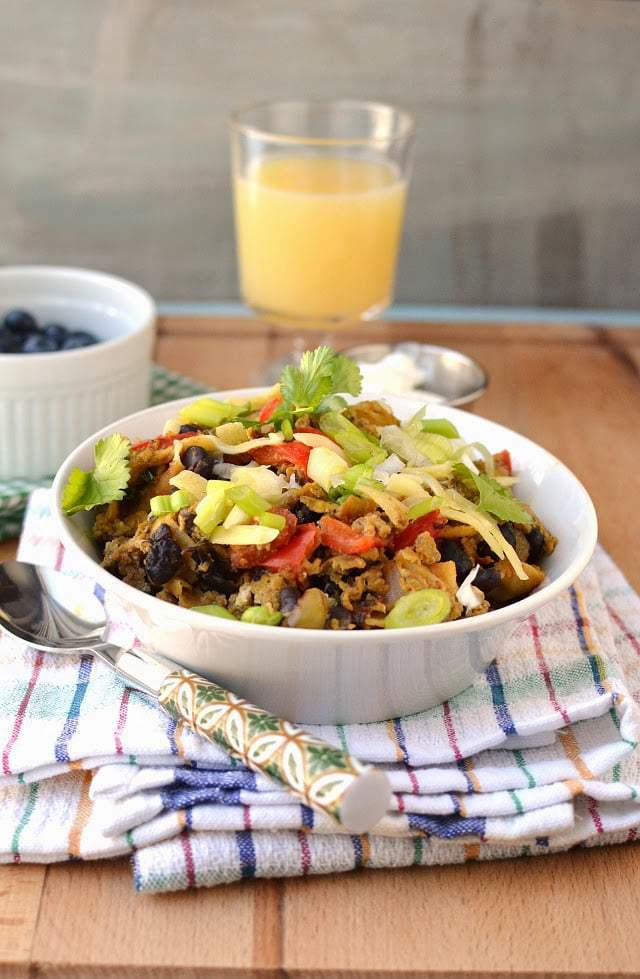 Migas with Black beans Recipe | HeyFood — heyfoodapp.com