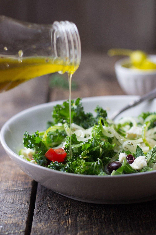 Simple Mediterranean Kale Salad Recipe | HeyFood — heyfoodapp.com