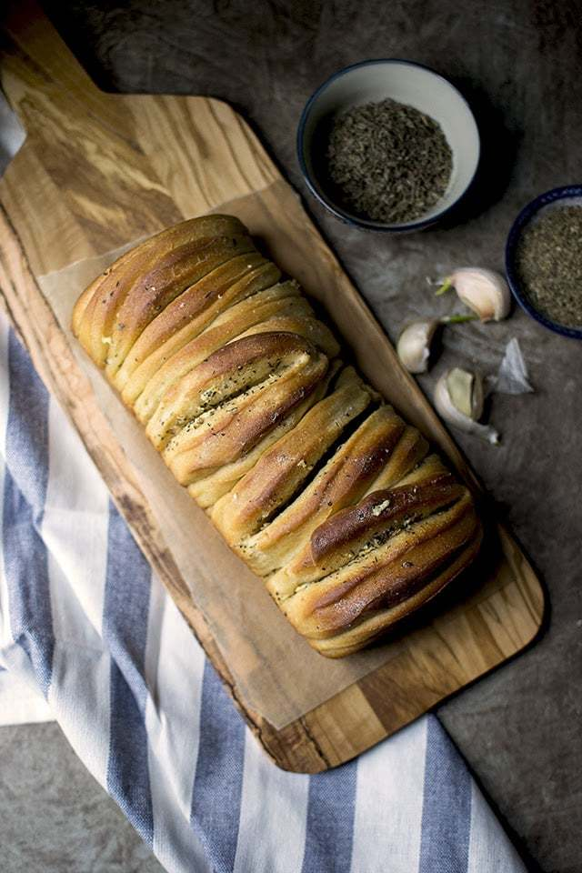 Buttery Garlic Pull apart Bread (makes ) Recipe | HeyFood — heyfoodapp.com